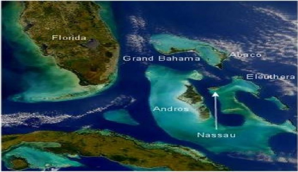 Coral Reefs In The Bahamas | Map Of The Bahamas Showing Florida And - Coral Reefs In Florida Map