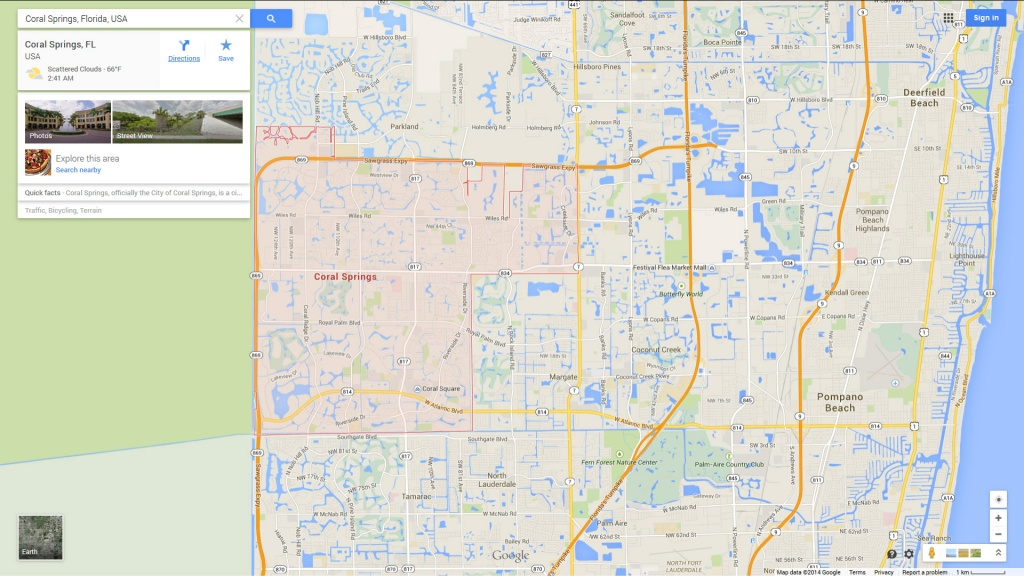 Coral Springs, Florida Map - Map Of Florida Showing Coral Springs