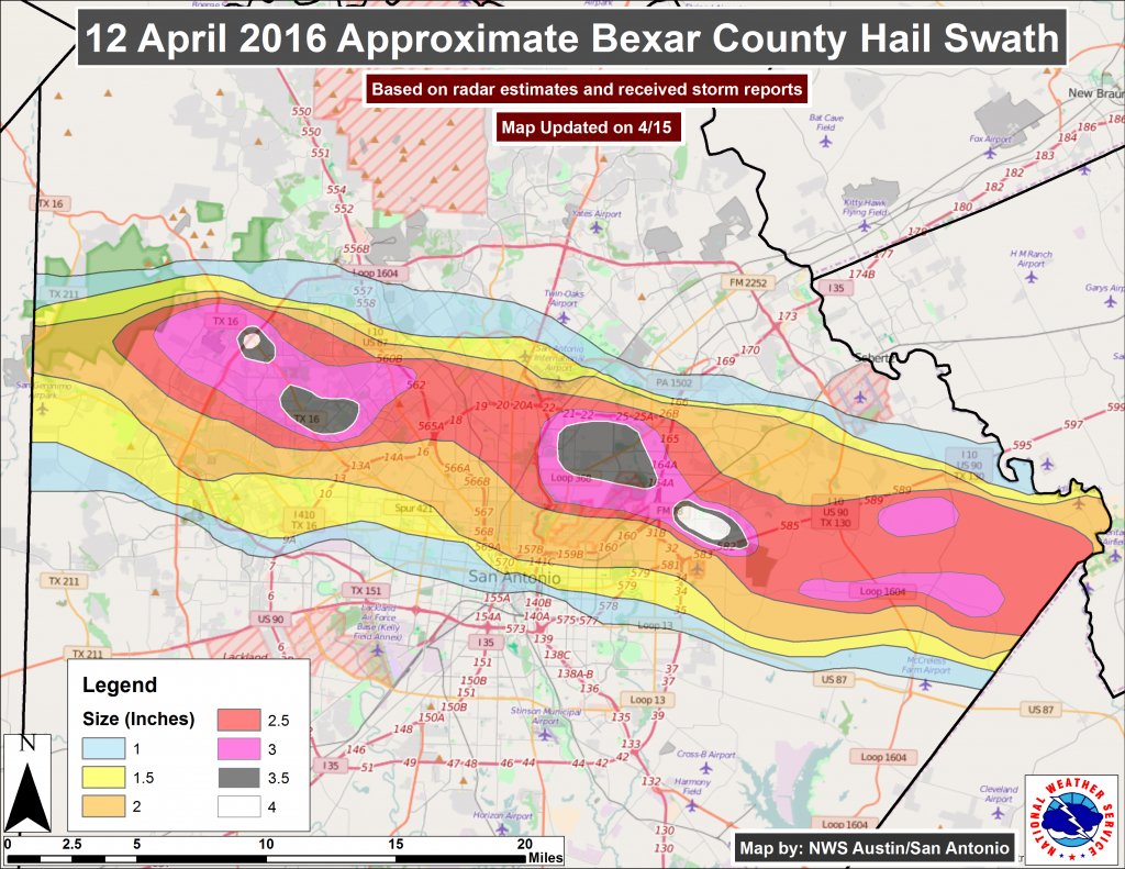 Corelogic Pegs Total Damage From Texas Spring Hail Storms At Nearly - Hail Maps Texas