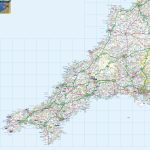 Cornwall Offline Map, Including The Cornish Coastline, Lands End   Printable Map Of Cornwall