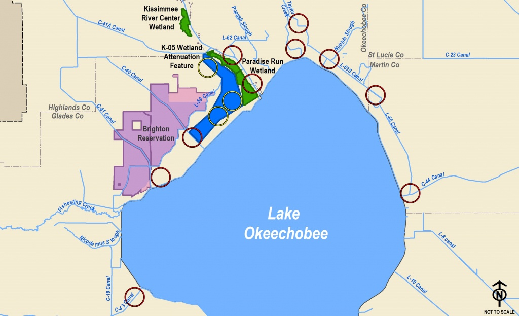 Corps Announces Public Meetings For Lake Okeechobee Watershed Study - Lake Okeechobee Florida Map