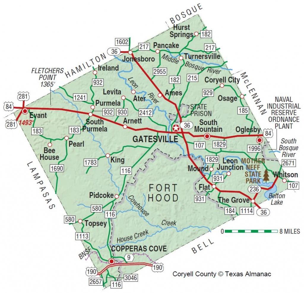 Coryell County Texas Map | My Blog - Coryell County Texas Map