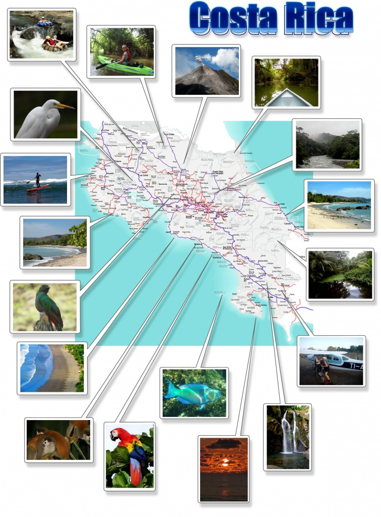 Costa Rica- Free Printable Map Download - Printable Map Of Costa Rica