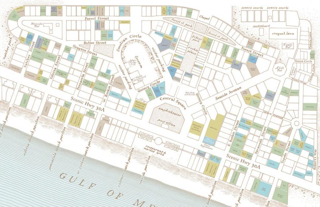 Cottage Rental Agency: Seaside Florida Map - Click Properties On Map - Seaside Florida Map