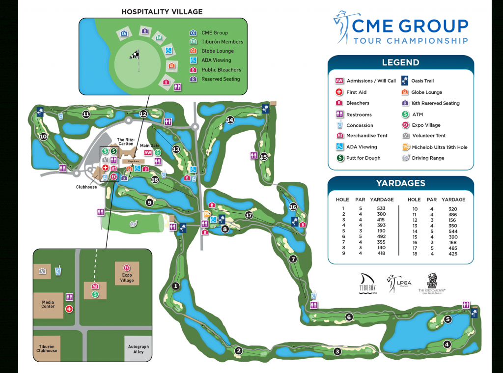 Course Info   Cme Group Tour Championship - Golf Courses In Naples Florida Map