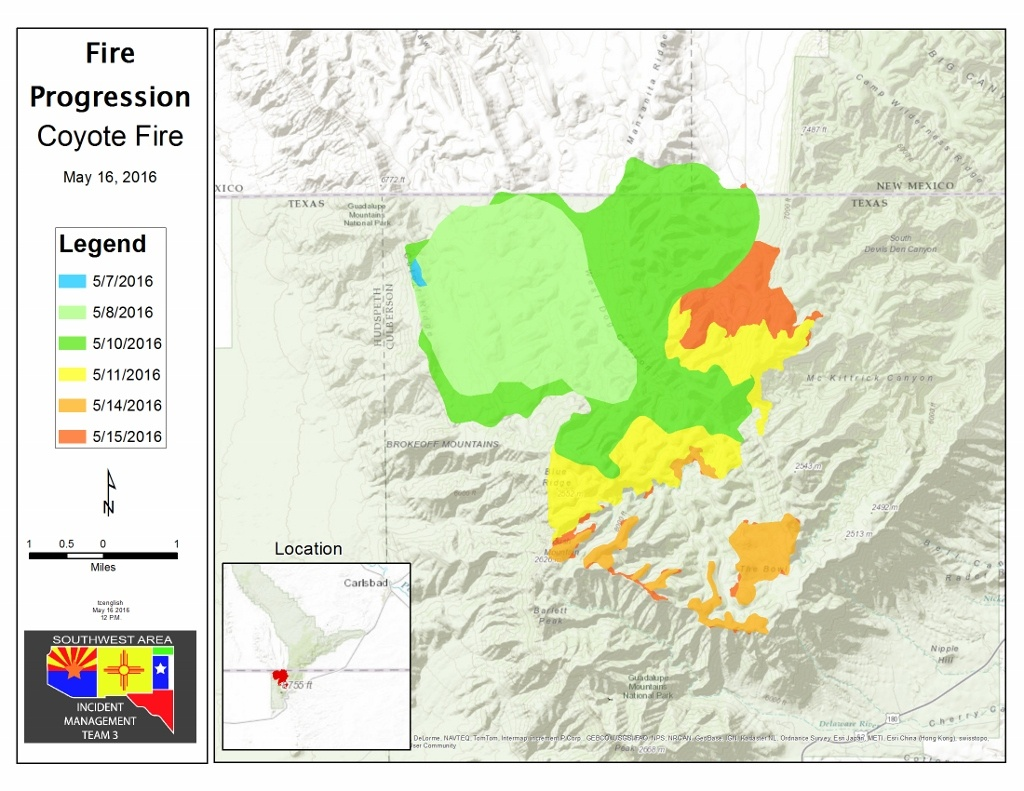 Coyote Fire Update: Red Flag Weather Conditions; Active Monitoring - Texas Active Fire Map