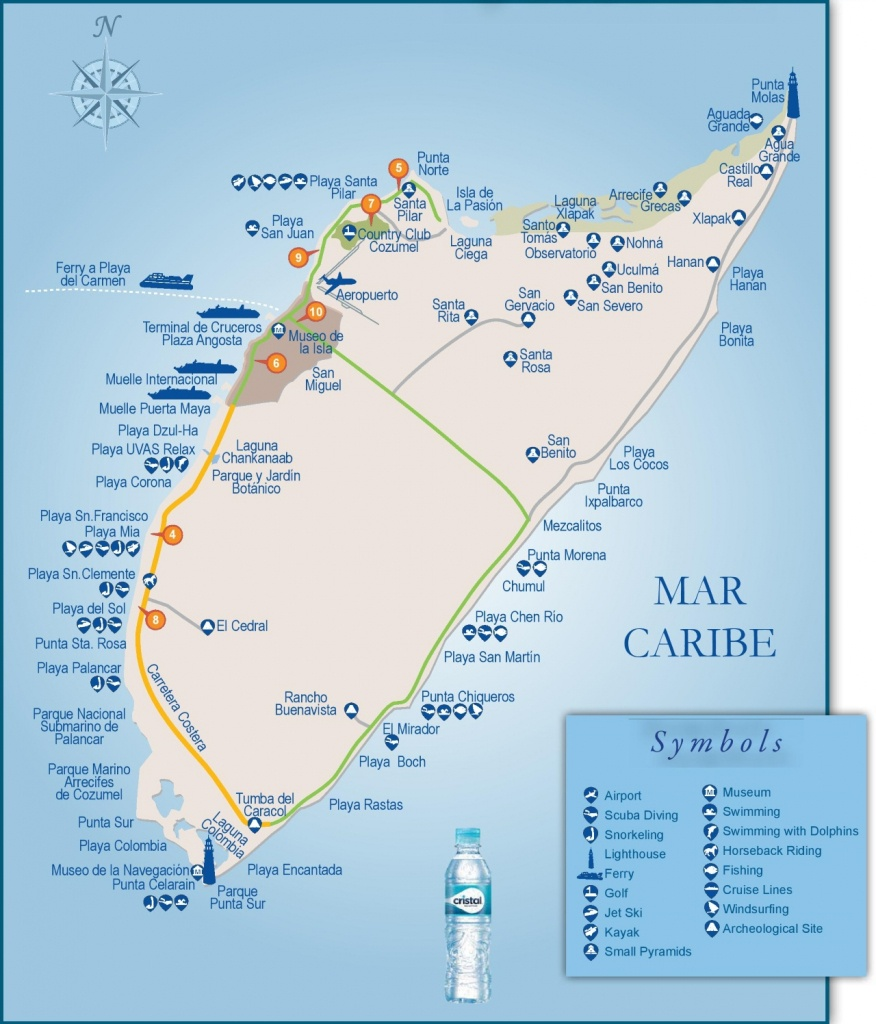 Cozumel Tourist Attractions Map - Printable Map Of Cozumel Mexico