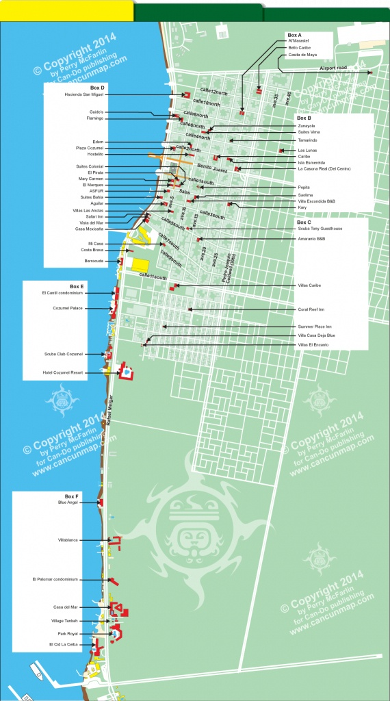Cozumelhotelsa Unique Map Of Hotels In Cozumel Mexico - Diamant-Ltd - Printable Map Of Cozumel Mexico