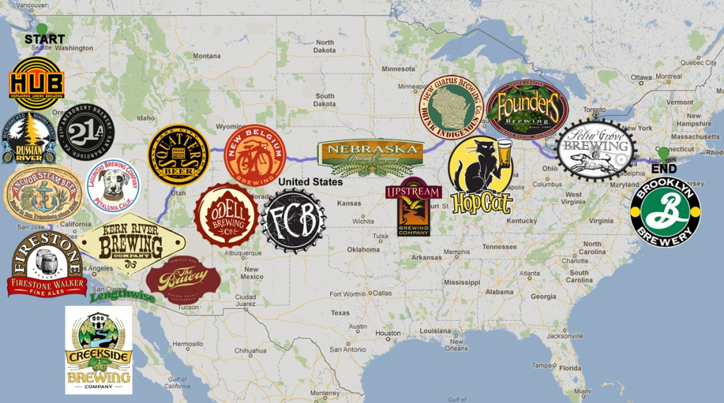Craft Beer Road Trip - A Photo Recap - The Pour Report - California Beer Map
