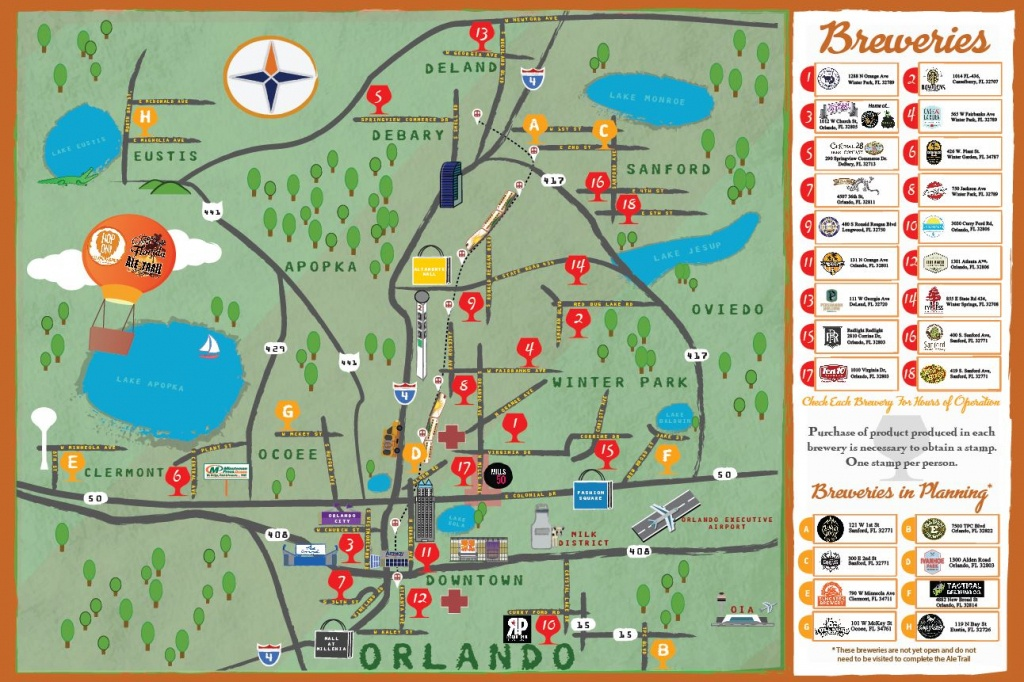 Craft Breweries - Historic Downtown Sanford - Florida Brewery Map
