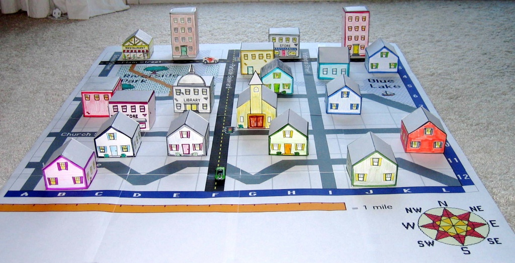 Create A 3D Town & Nurture Young Explorers - Community Map For Kids Printable