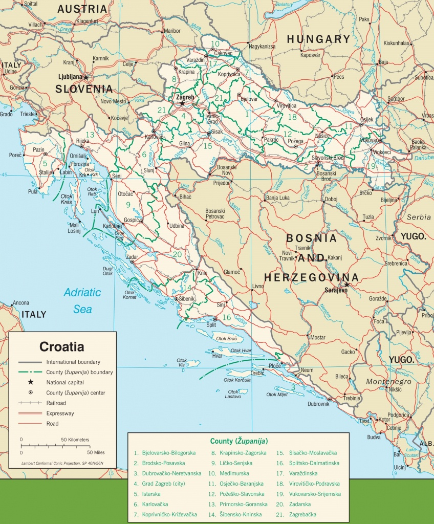 Croatia Maps | Maps Of Croatia - Printable Map Of Croatia