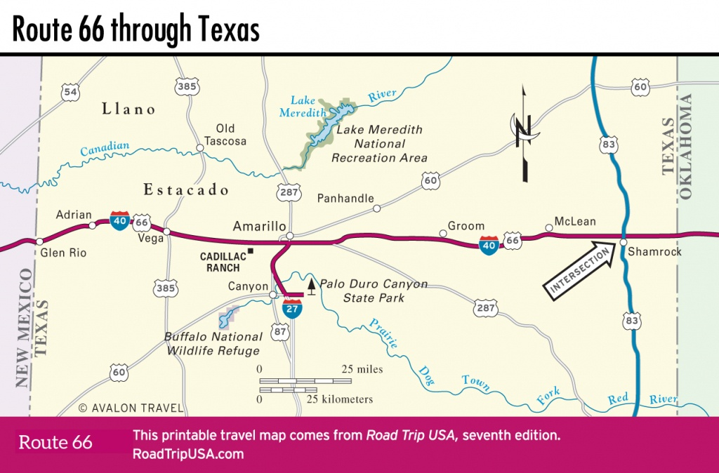 Crossing The Texas Panhandle On Route 66 | Road Trip Usa - Route 66 Map California