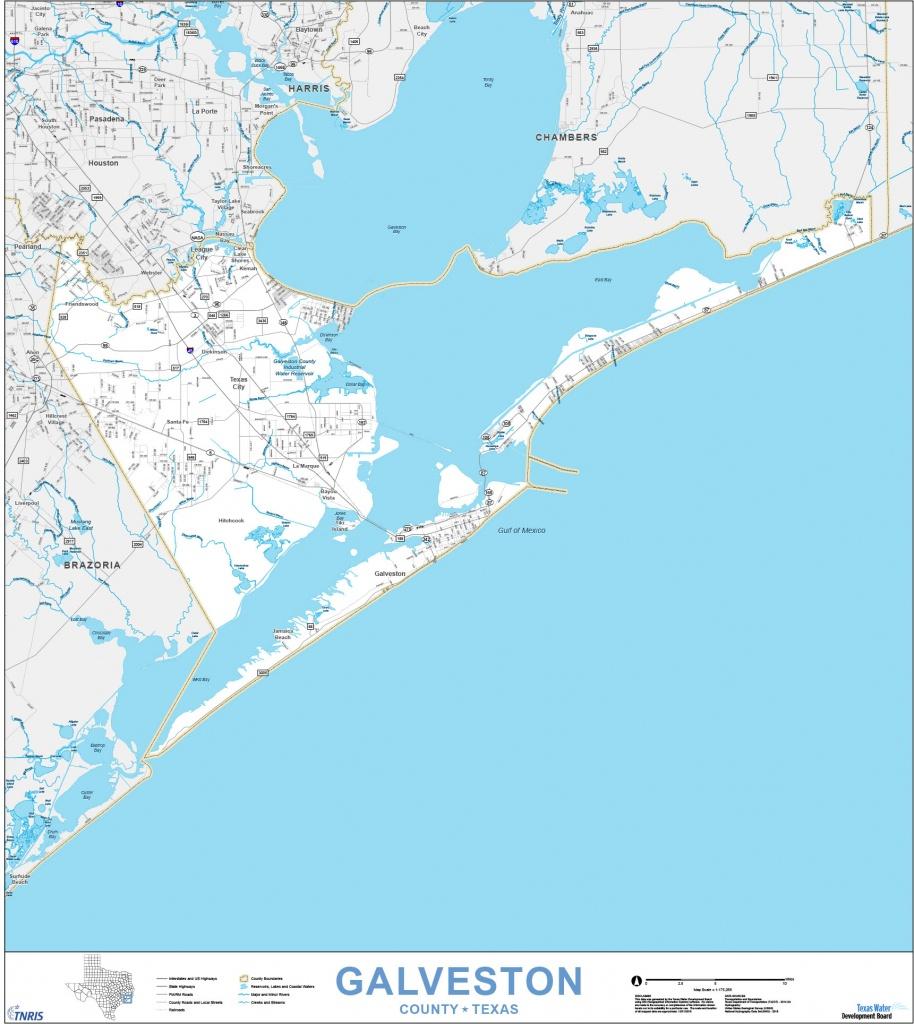 Custom Maps | Tnris - Texas Natural Resources Information System - Texas Navigable Waterways Map