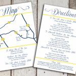 Custom Wedding Map And Direction Invitation Insert Printable File   Printable Maps For Invitations