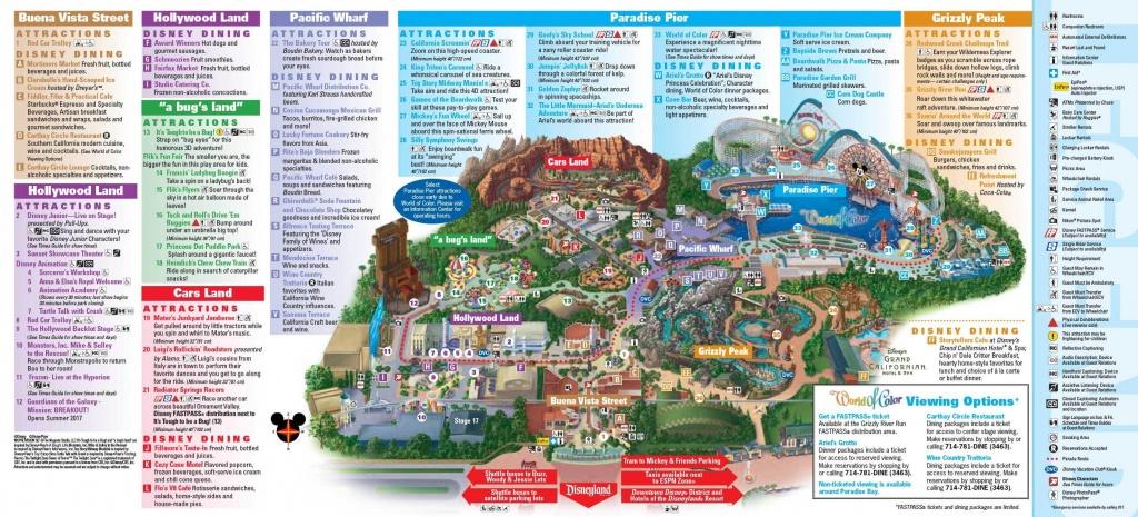 D-Tales #065 – Disney California Adventure – D-Log - California Adventure Map 2017