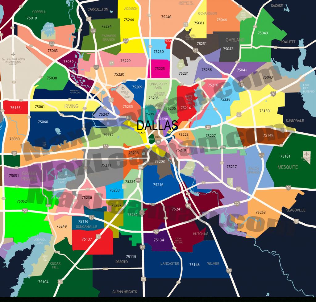 Dallas Zip Code Map | Mortgage Resources - Dallas Zip Code Map Printable