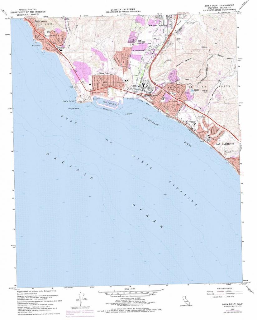 Dana Point Topographic Map, Ca - Usgs Topo Quad 33117D6 - Dana Point California Map
