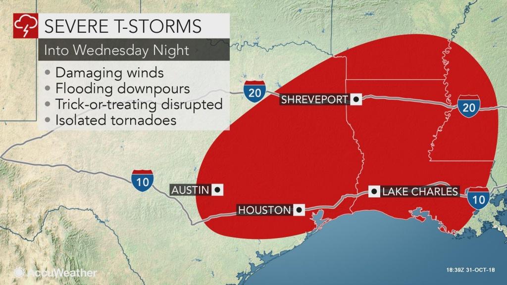Dangerous Storms To Target Texas, Louisiana As Flooding Eyes Ohio Valley - Texas Weather Map