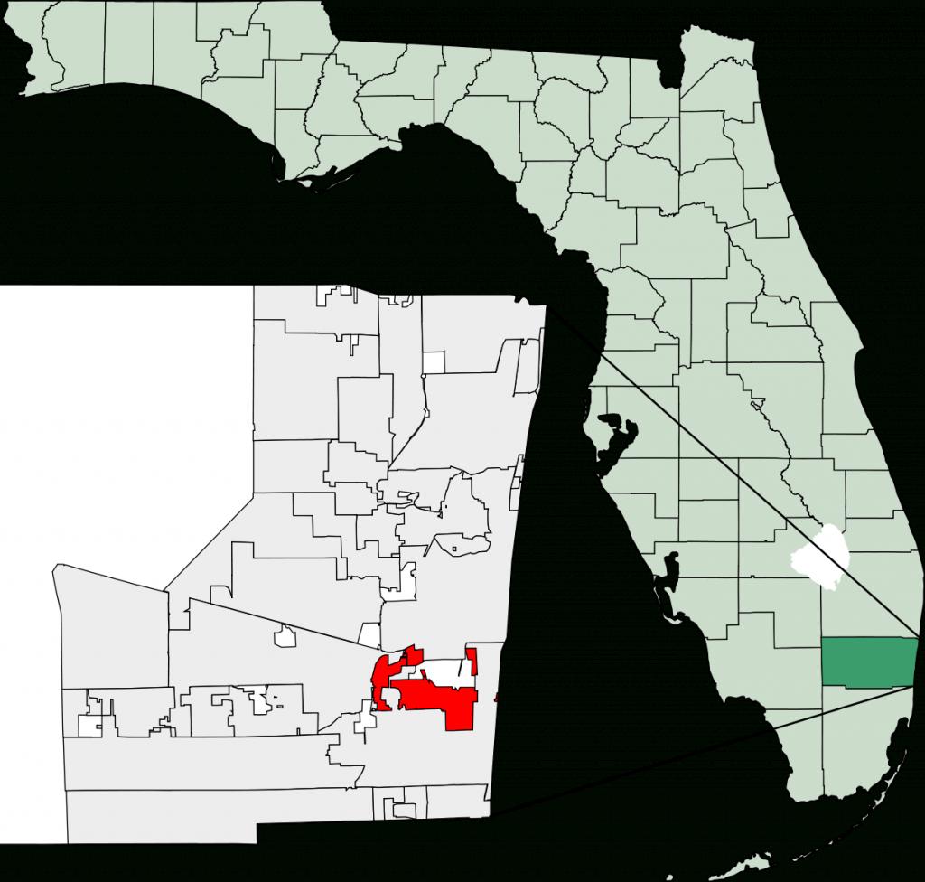 Dania Beach, Florida - Wikipedia - Map Of West Palm Beach Florida Showing City Limits