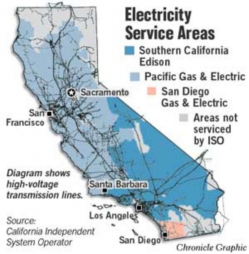 Davis Seals Power Deal With Edison To Buy Lines / 10-Year Pact - High Voltage Power Lines Map California