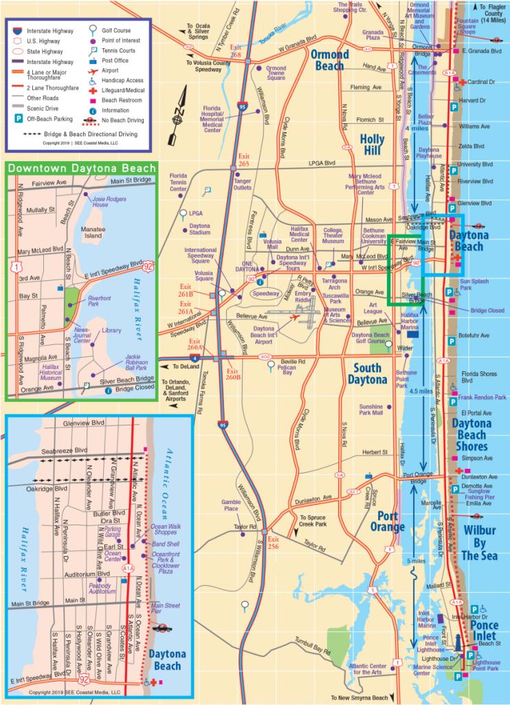 Daytona Beach Area Attractions Map | Things To Do In Daytona - Map Of Daytona Beach Florida