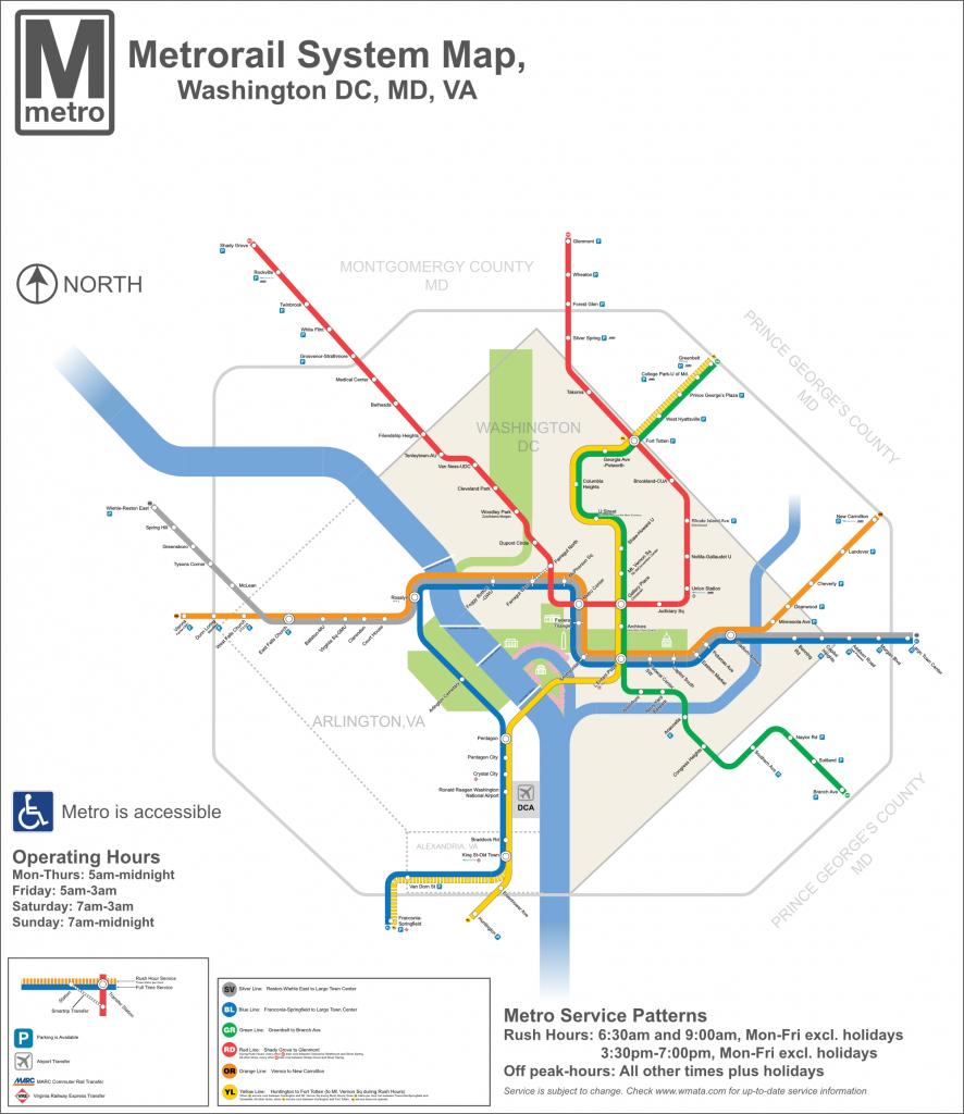 Dc Metro Map - Dc Transit Guide - Printable Washington Dc Metro Map