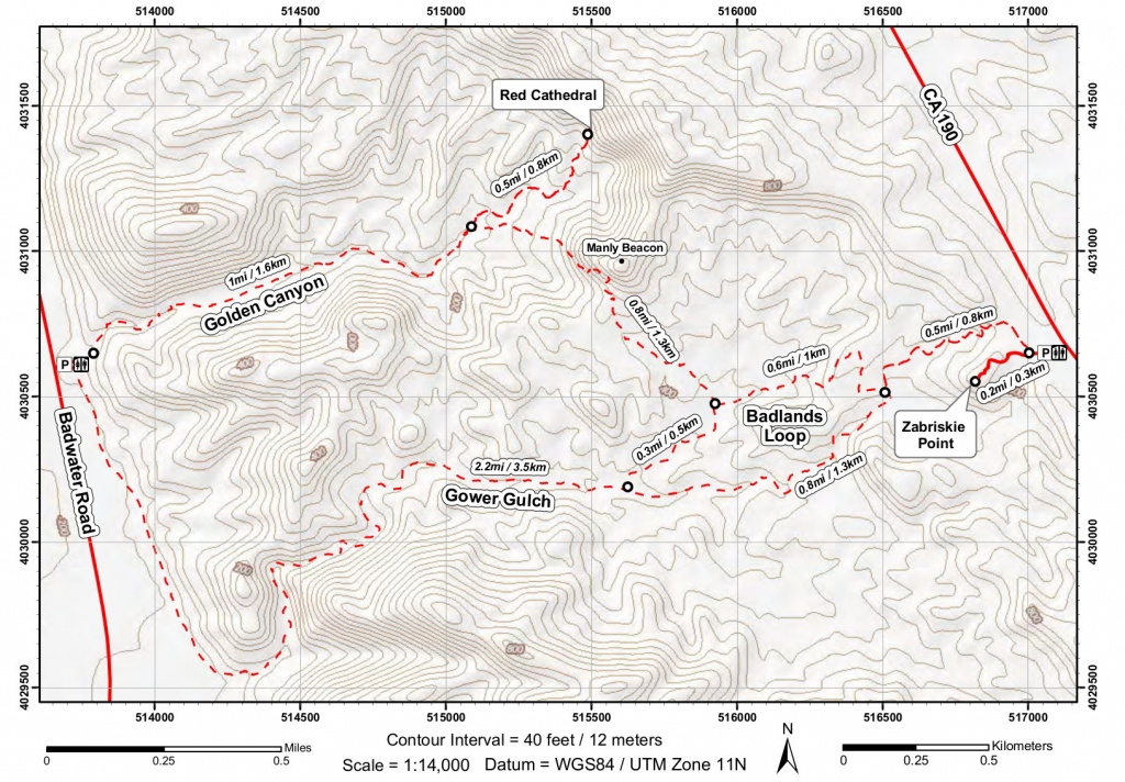 Death Valley Maps | Npmaps - Just Free Maps, Period. - Printable Hiking Maps
