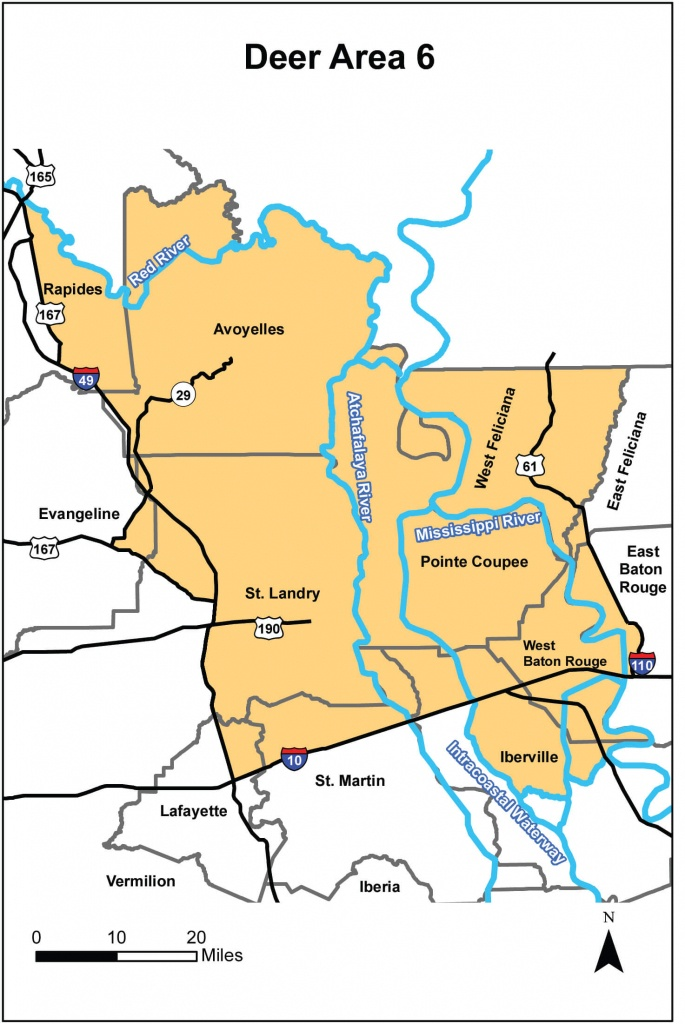 Deer Hunting – Area 6 | Louisiana Hunting Seasons & Regulations - Texas Hunting Zones Map