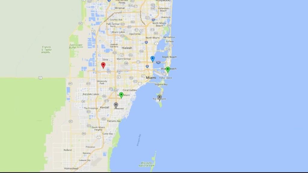 Deggy Smart Map Technology - Miami Lakes Florida Map