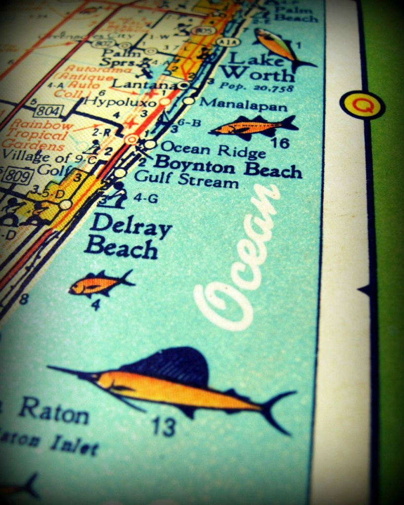 Delray Beach Map, Florida Map Art | Delray Beach | Delray Beach - Del Ray Florida Map