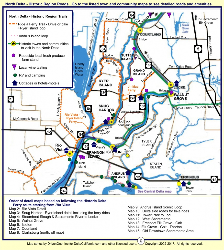 Deltacalifornia – Welcome To The Delta In Northern California - Map Of California Delta Waterways