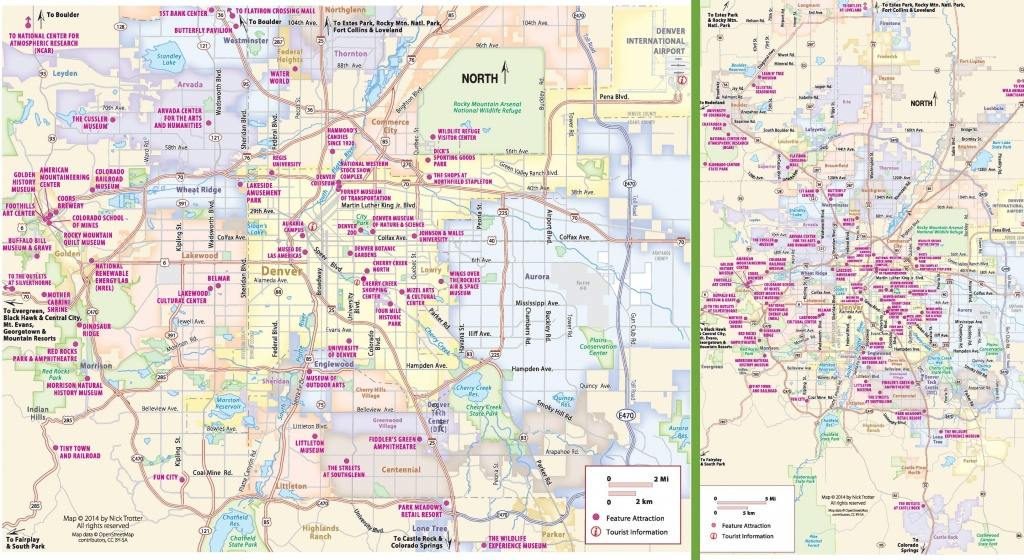 Denver Tourist Attractions Map - Denver City Map Printable