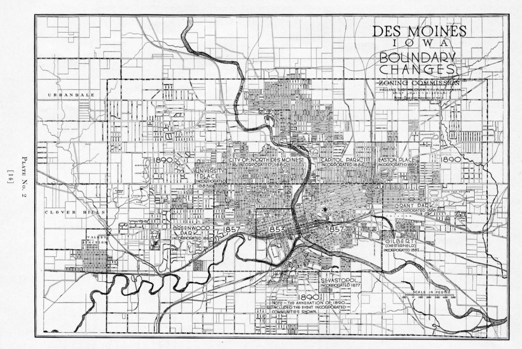 Des Moines Expansion – 1890 Map | Des Moines Local History - Printable Map Of Des Moines Iowa