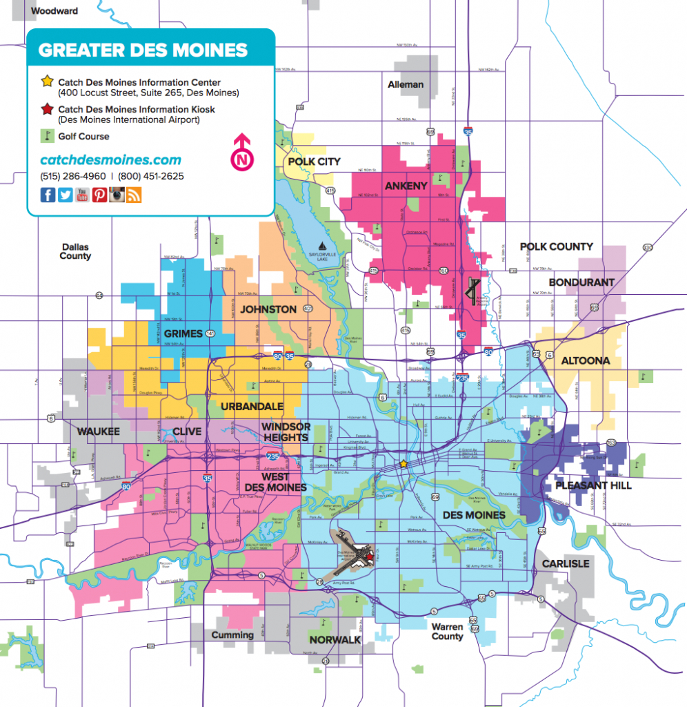 Des Moines Maps | Downtown Map, Trails Map & More - Printable Map Of Des Moines Iowa