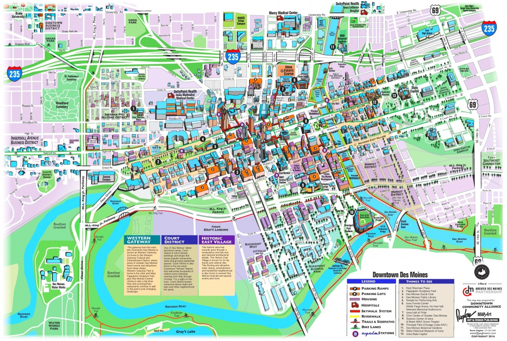 Des Moines Tourist Attractions Map - Printable Map Of Des Moines Iowa