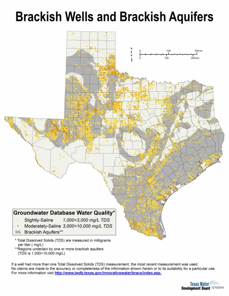 Texas Water Well Location Map