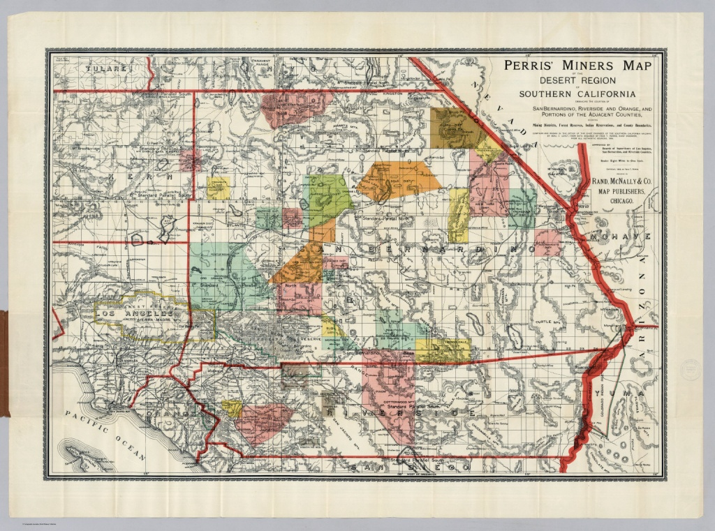 Desert Region Of Southern California - David Rumsey Historical Map - Printable Map Of Riverside Ca