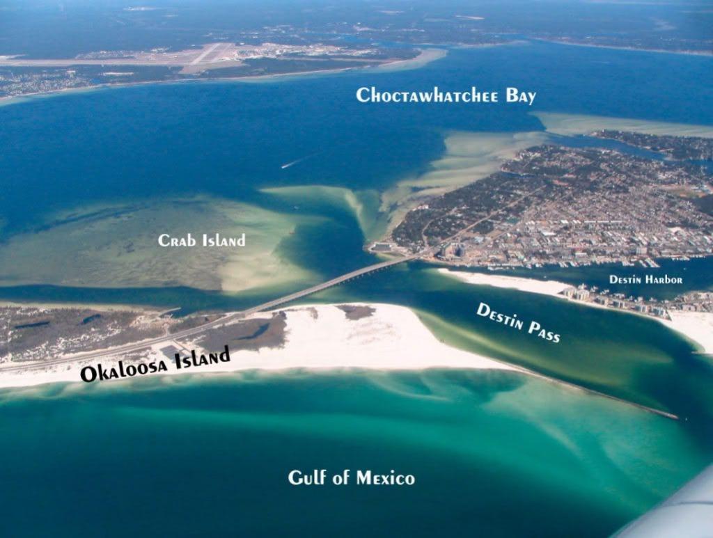 Destin, Fl   Travel   Destin Florida Vacation, Destin Florida - Crab Island Destin Florida Map