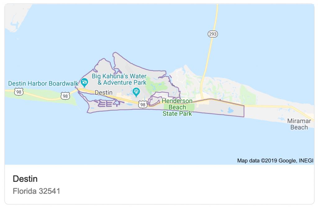 Destin Vs. Naples - Map Of Northwest Florida Beaches