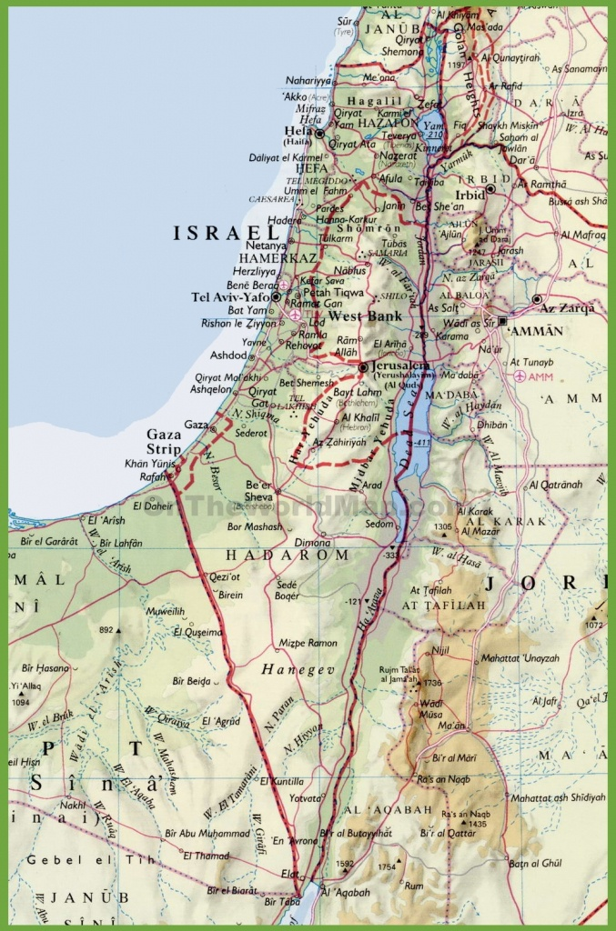 Detailed Map Of Israel With Cities - Printable Map Of Israel Today