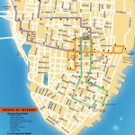 Detailed Map Of The Charleston Dash Trolley Routes. | Charleston Sc   Printable Map Of Charleston Sc Historic District