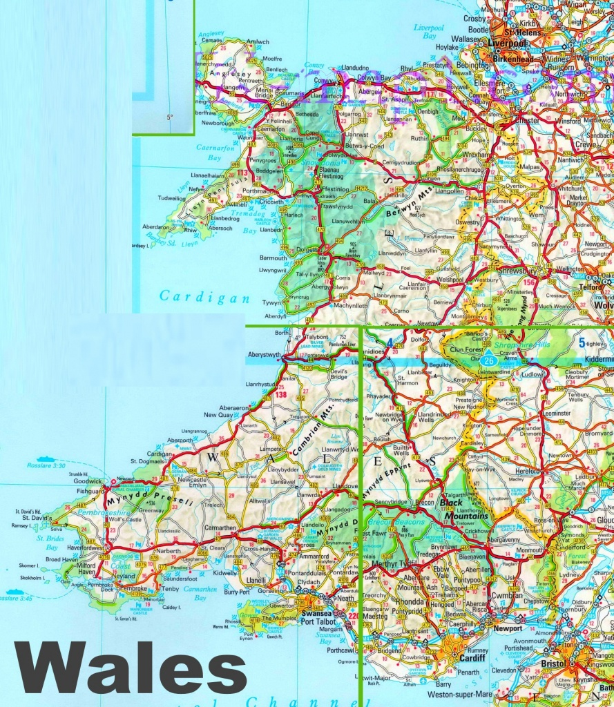 Detailed Map Of Wales - Printable Map Of Wales