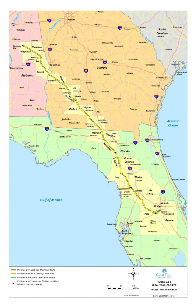 Detailed Project Overview Map From Sabal Trail | Spectrabusters - Florida Gas Pipeline Map