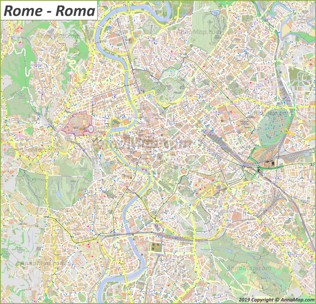 Detailed Tourist Maps Of Rome | Italy | Free Printable Maps Of Rome - Rome City Map Printable