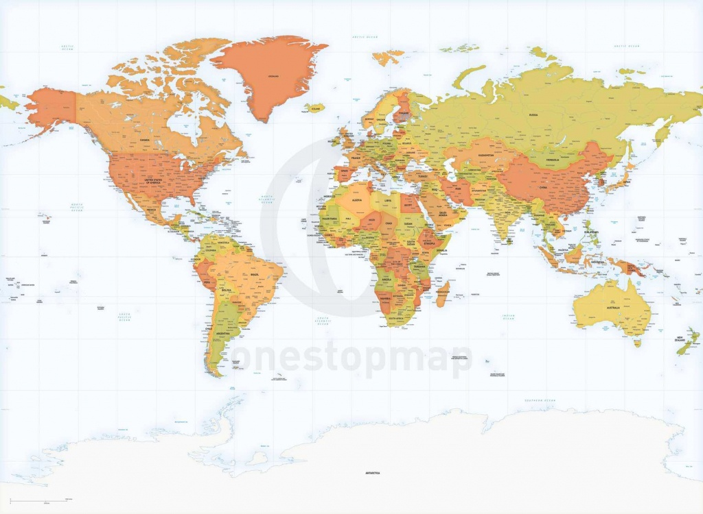 Detailed World Map Miller Europe-Africa | One Stop Map - World Map With Capital Cities Printable