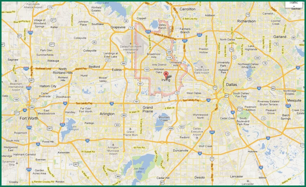 Dfw Area Map - Map Of Dfw Area (Texas - Usa) - Printable Map Of Dallas Fort Worth Metroplex
