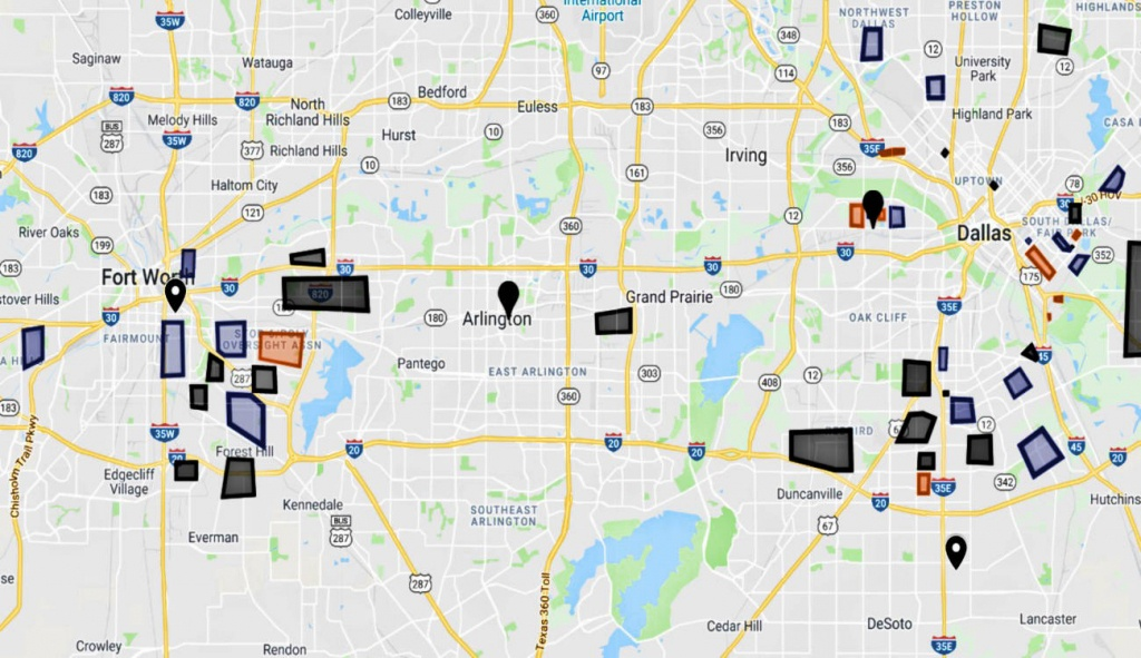 Dfw Map: Dallas Gangs And Hoods / Fort Worth Gangs And Hoods - Google Maps Fort Worth Texas
