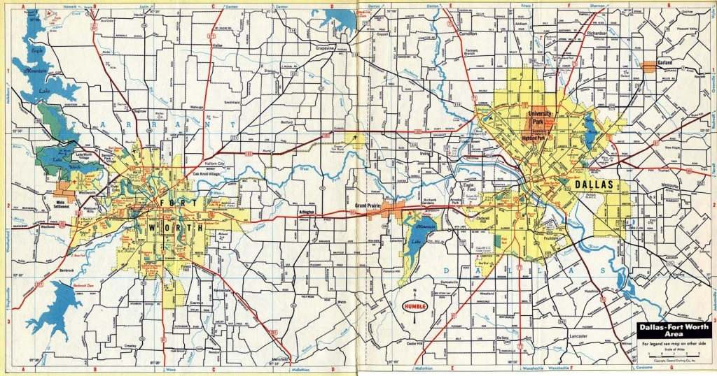 Dfw Map - Map Dfw (Texas - Usa) - Printable Map Of Fort Worth Texas
