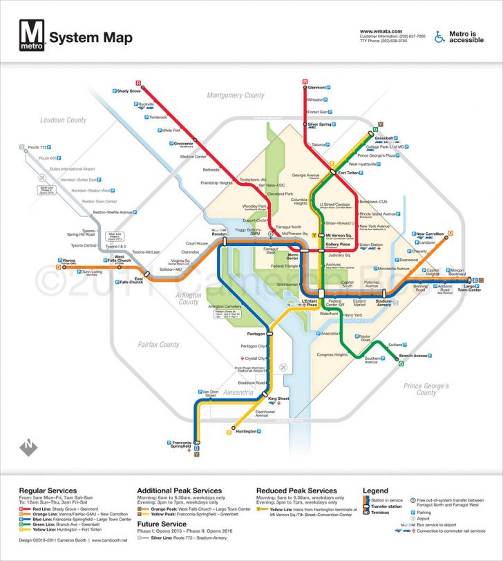 Printable Washington Dc Metro Map